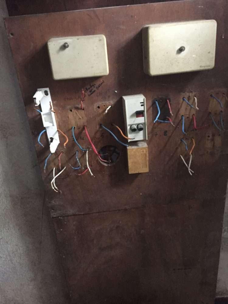 Ancienne installation électrique