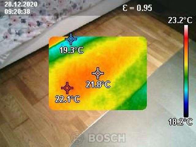 Détection fuite d'eau caméra thermique