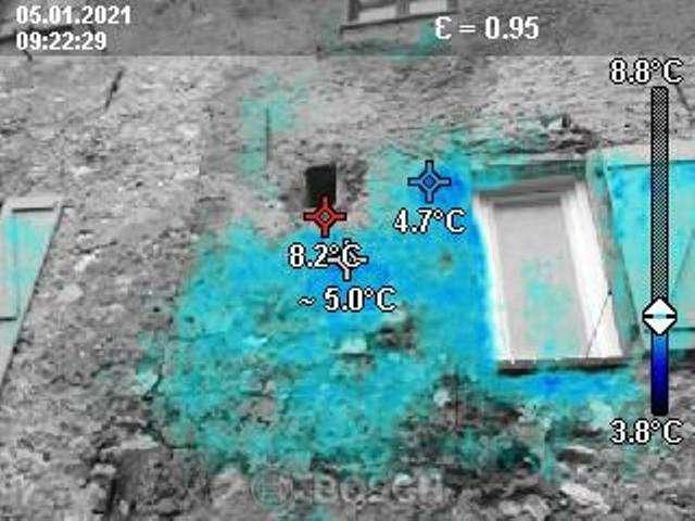 Recherche fuite eau caméra thermique
